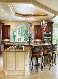 Mediterranean Kitchen Mediterranean Kitchen Style Illuminated With Recessed Lighting And
