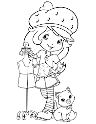 strawberry shortcake coloring pages to print strawberry shortcake coloring page fresitas pinterest