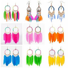one side feather earring fashion earring designs new model earrings one side feather