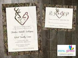 wedding invitations and rsvp camo deer hearts wedding invitation and rsvp card 2285793 weddbook
