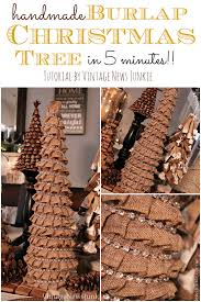 how to make a burlap christmas tree in 5 minutes easy tutorial