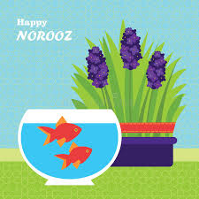 norooz cards farsi happy new year card template illustration with fish and
