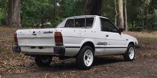 old subaru brat subaru brumby leaving the river cottage in the name of charity