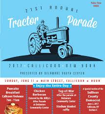2017 callicoon tractor parade by sullivan county democrat catskill