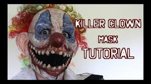 it clown halloween mask how to make a scary killer clown mask tutorial youtube