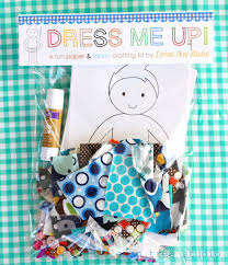 dress me up a fun paper u0026 fabric doll craft kit for children