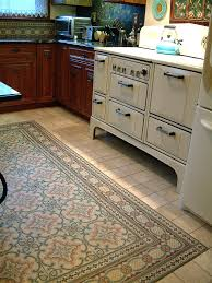 a stunning art nouveau floor in a kitchen in brooklyn the
