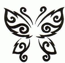 tribal butterfly stencil cool designs cool