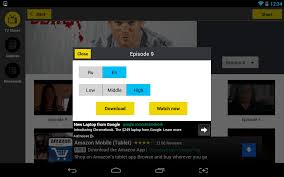 android watch and download many tv shows for free with show