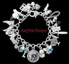 themed charm bracelet hush hush themed charm bracelet ebay