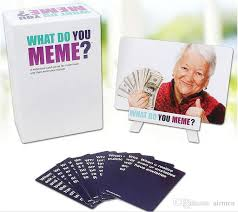 Meme Board Game - what do you meme funny family cards games for adults funny board