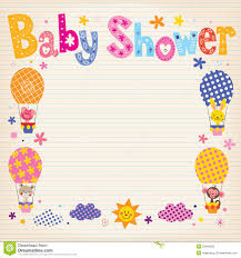 baby shower paper baby shower invitation card stock vector image 53482263