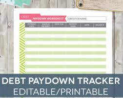 Excel Debt Payoff Template Debt Payoff Spreadsheet Debt Snowball Excel By Perennialplanner