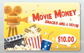 theater gift cards theatre gift card template popcorn soda slate stock