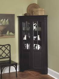 captivating black corner curio cabinet with light 54 about remodel