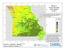 missouri breaks map missouri wind resources version open energy information