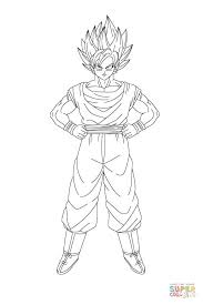 son goku cartoon coloring page download 4 cartoon pictures of