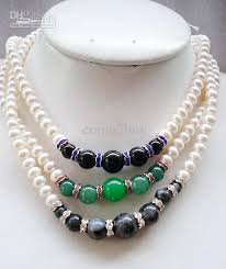 pearl bead necklace images 2018 2013 hot sale retail freshwater pearl beaded necklaces 17inch jpg