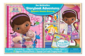 amazon com bendon doc mcstuffins magnetic dress up and storybook