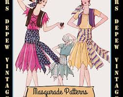 vintage pattern catalog booklet 1920s masquerade halloween