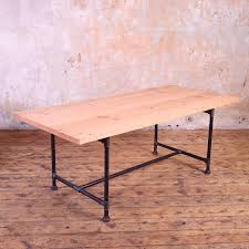 metal pipe legs industrial style dining table cosywood co uk