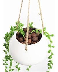 White Hanging Planter by Amazon Com Mkono 2 Pack Small Hanging Pot Ceramic Plant Planter