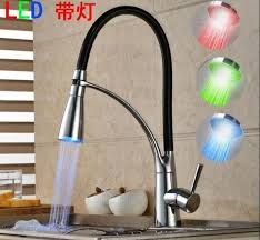 led kitchen faucets led kitchen faucet rotate with bracket sink faucet dual shower
