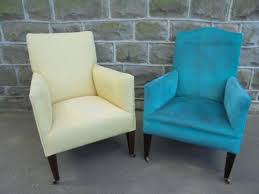 Antique Upholstered Armchairs Matched Pair Of Antique Upholstered Armchairs Loveantiques Com