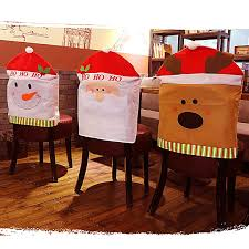 Kitchen Chair Covers Aliexpress Com Buy 1pc Christmas Santa Claus Chair Cover Snowman