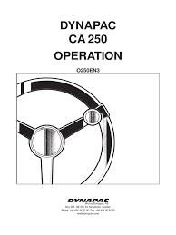 Tranzporter Hoist dynapac ca 250 operations o250en manual transmission switch