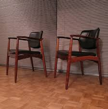 Leather Chairs Erik Buch Model 67 Brazilian Rosewood U0026 Leather Chairs 62087