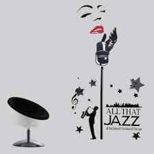 wandtattoo designer jazz musik designer sticker aufkleber
