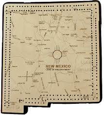 New Mexico Maps New Mexico State Shape Map Cribbage Board
