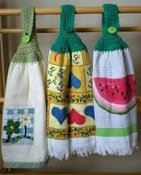 pattern crochet towel holder hanging kitchen towels crochet kitchen towel crocheted hanging dish