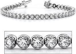 bracelet diamond gold tennis white images 18k white gold three prong diamond tennis bracelet 4 60ct tw assb863 png