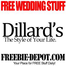 free wedding registry gifts free wedding stuff dillard s free registry gifts and more