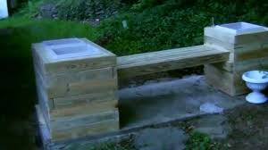Wood Planter Bench Plans Free by Epic Planter Bench Build Project Youtube