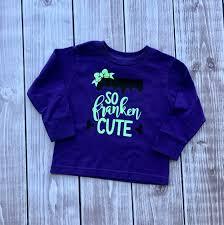 Personalized Halloween Shirts Halloween Frankencute Shirt Halloween Shirt Kids Shirt Fall