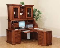 Wooden Computer Desk Plans Executive L Shaped Roll Top Desk From Dutchcrafters For