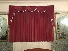 Deep Red Velvet Curtains Velvet Vintage Retro Curtains U0026 Pelmets Ebay