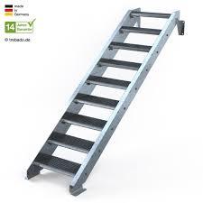 treppen rechner außentreppe gerade 10 steigungen 9 stufen 60 bis 120 cm treppen