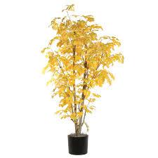 vickerman 6 ft yellow aspen executive silk tree hayneedle