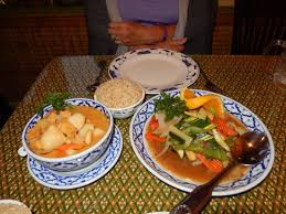 singha cuisine masman curry and spicy basil veggies picture of singha