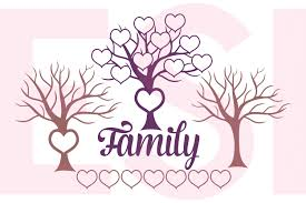 family tree design with hearts b design bundles