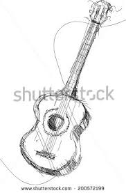 acoustic guitar sketch stock images royalty free images u0026 vectors