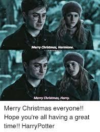 Meme Merry Christmas - merry christmas hermione firefa wkess merry christmas harry merry