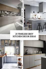 ideas for grey kitchen cabinets 25 timeless grey kitchen decor ideas shelterness