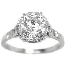 mine cut engagement ring engagement rings edwardian 1 92ct mine cut pla