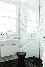 black white bathrooms white bathroom subway tiles aug