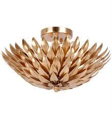 gold flush mount light crystorama crystorama broche 4 light antique gold ceiling mount